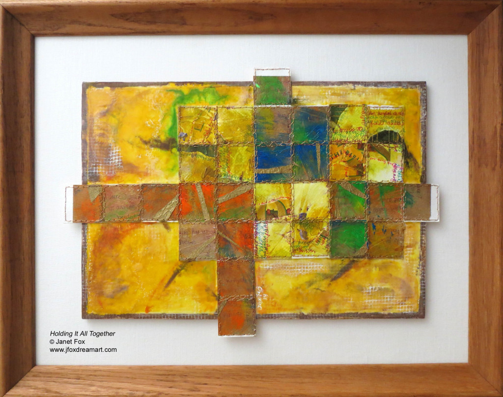 "Image of an encaustic painting by Janet Fox titled ""Holding It All Together."""