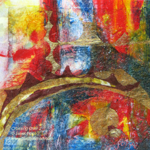 "Image of a mixed media painting by Janet Fox titled ""Crossing Over 2."""