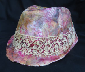 """Hatless Fedora,"" an encaustic fedora artwork by Janet Fox"