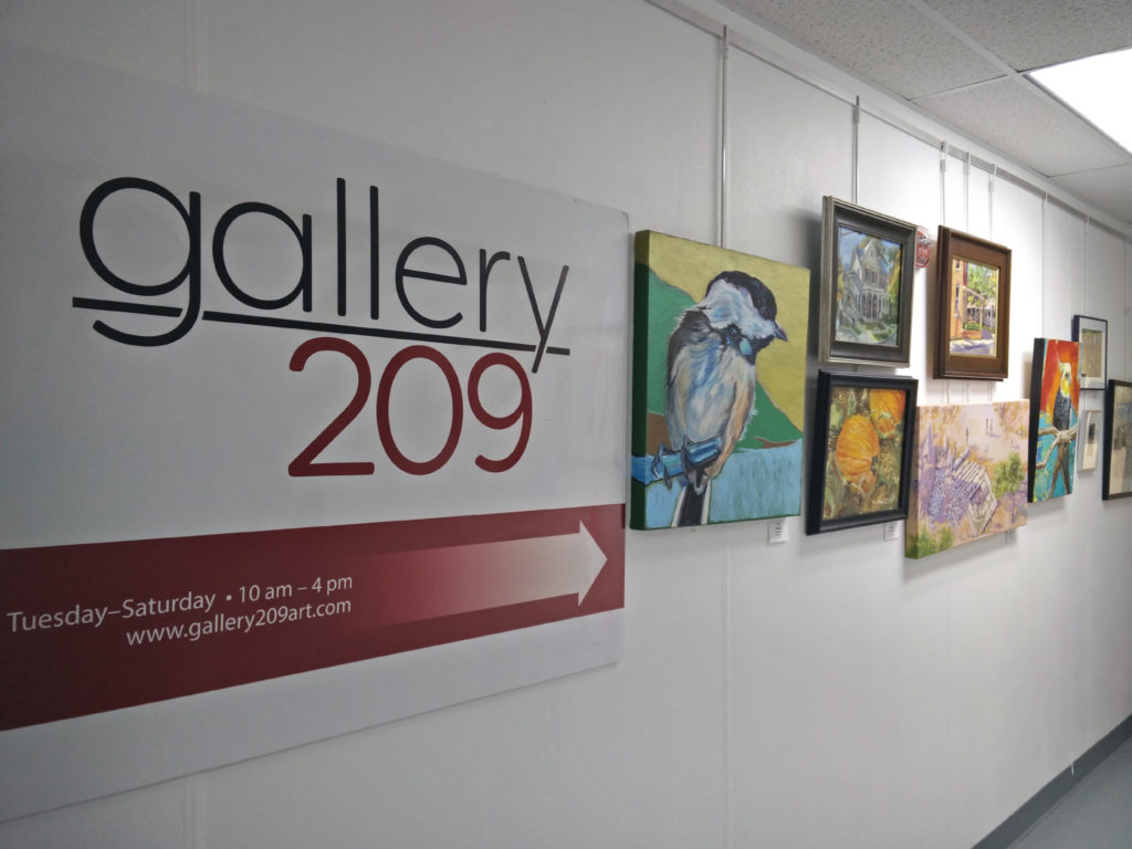 Photo of Gallery 209 Welcome sign