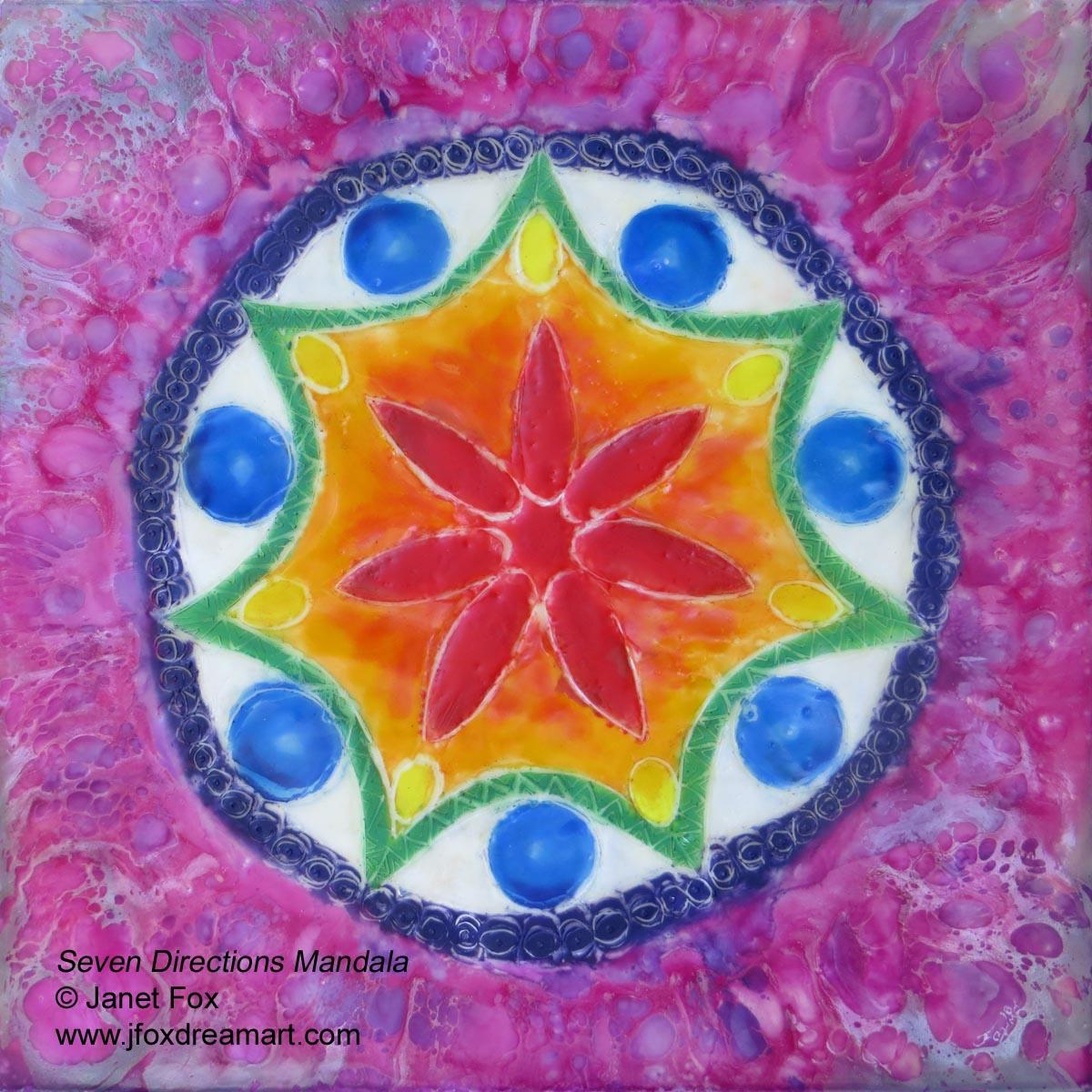 size 40 7cfce 2a49e An encaustic mandala painting