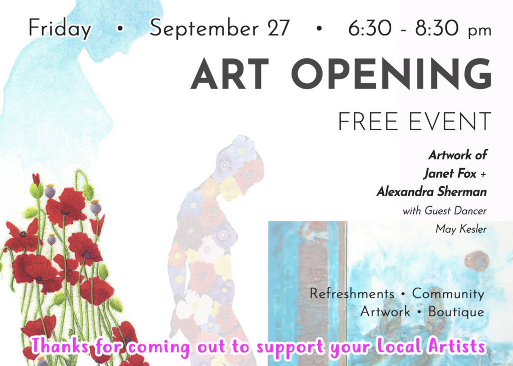 Janet Fox Featured Artist Simon Says Yoga - Art Reception - September 27, 2019